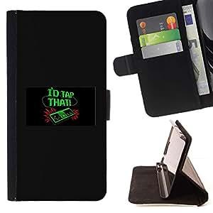 Momo Phone Case / Flip Funda de Cuero Case Cover - I'D Tap That - Funny - Video Game - HTC One A9