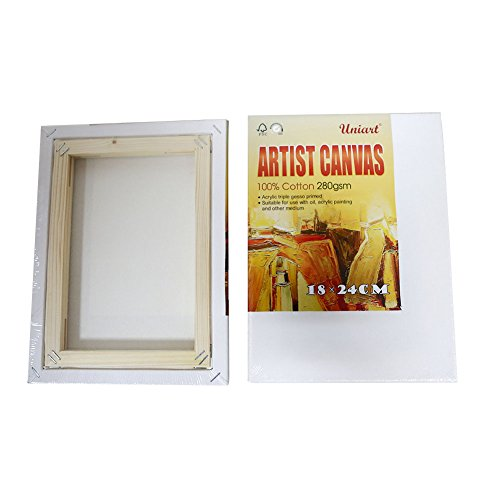 Canvas Panel Blank Painting Boards Artist Supplies Wooden Frame ...