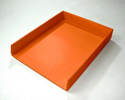 - Bindertek Bright Line Wooden Desk Organizing System, Letter Tray, Orange (BTLTRAY-OR)
