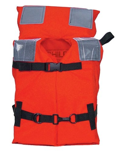 KENT Commercial Type I Jacket Style Life Jacket, Child 50-90 Pounds, Orange