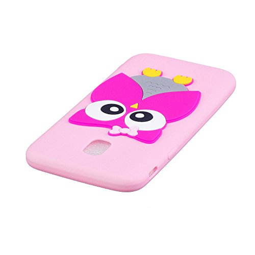 Samsung Galaxy J3 Pro 2017 Conejo Funda, Vandot Fashion 3D Lovely Cartoon Buck Teeth Bunny Rabbit Rubber Series Soft Silicone Back Case Cover para Samsung Galaxy J3 Pro (2017) J330 Case, Protección Si 3D 01
