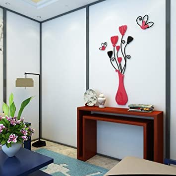 Gut GOUZI Tv Mauer 3 D Acryl Crystal Stereo Restaurant Büro Wandhalterung  Fernseher Sofa, Kleine Rote
