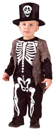 Skeleton Costumes For Toddlers (Boys Skeleton Classic Small Halloween Costume 24-2T)