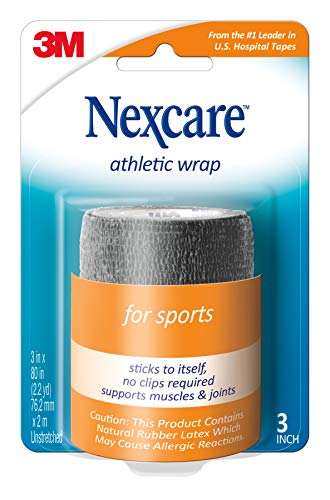Nexcare Athletic Wrap, Black, 2-Pack, 3 Inches X 5 Yards (Nexcare Athletic Wrap)