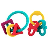 Silicon Baby Teether, 2 Pack Colorful Soothe Gums & Massage Teeth Baby ,BPA Free, SGS Certified
