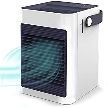 Air Cooler, Mini Portable Air Conditioner Fan Noiseless Evaporative Air Humidifier for Room Office Desktop Nightstand