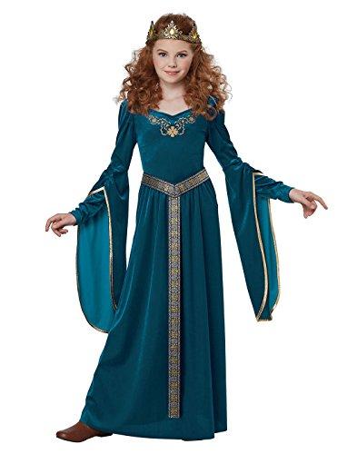Girls Royal Blue Medieval Princess Costume size XS 4-6 (Medieval Dresses For Girls)