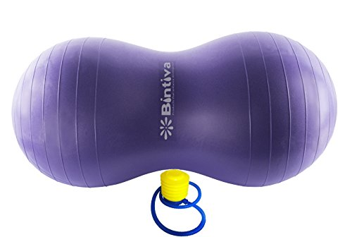 Bintiva Peanut Ball, Including a Free Foot Pump, for Labor, Physical Therapy, Fitness, and Exercise ()
