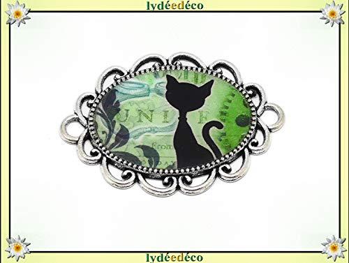1 imán Gato steampunk verde negro blanco ruedas regalos personalizados Navidad amigos papá mamá cumpleaños ceremonia
