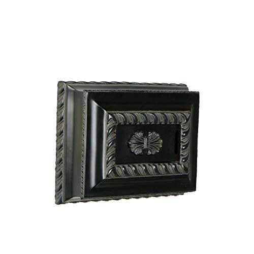[해외]수제 CH1201-BK 디자이너 손으로 조각 직사각형 문 차임 블랙 (7\\ / Craftmade CH1201-BK Designer Hand-Carved Rectangle Door Chime Black (7H x 9.63W)