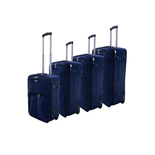 Cheap Dumont 4-Piece Expandable Lightweight Rolling Luggage Set, Navy