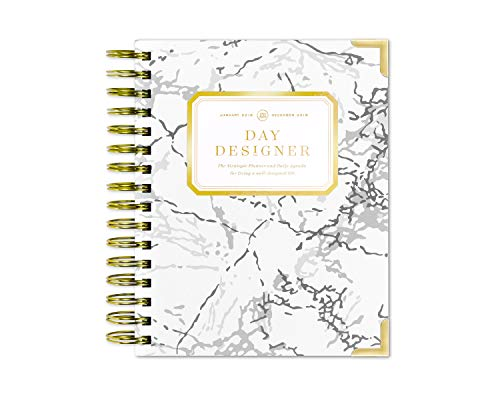 Original Daily Day Planner - Day Designer Daily Planner 2019 | Original Mini Flagship | Best Day Planner | Goal Setting | Time Management | Productivity | 6.625