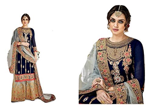 stylishfashion Ready to wear New Christmas Collection Indian Pakistani Dress for Palazzo sharara Designer Anarkali (Choice 2, CHEST-40 WEST-36 HIPS-42)