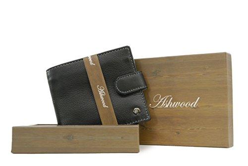 Fold Leather amp; Classic Grey Box Ashwood Gift Wallet Black Yqx56SqwA