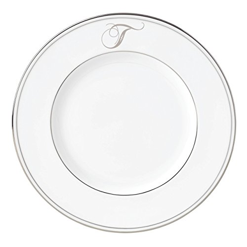 Lenox Federal Platinum Script Monogram Dinnerware Accent Plate, ()