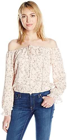 Lucca Couture Women's Off Shoulder Top with Front Tie