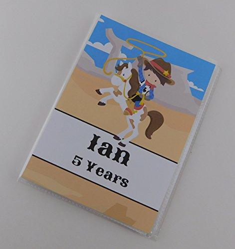 - Photo Album Cowboy Birthday IA#837 Grandma's Brag Book 4x6 or 5x7 Pictures Newborn Shower Baby Boy Gift Wild West