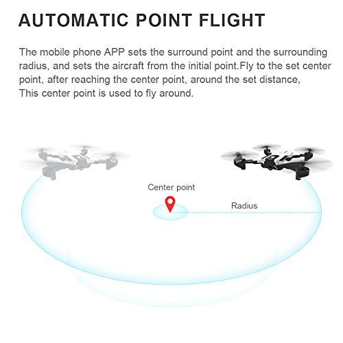 Hisoul SG900-S Foldable Quadcopter Drone 2.4GHz 1080P HD Camera WiFi FPV GPS Fixed Point Drone - One Button Fixed Height/GPS Fixed/Fixed Height/Smart Follow, Round Point Flight, Black, White (B) by Hisoul (Image #5)