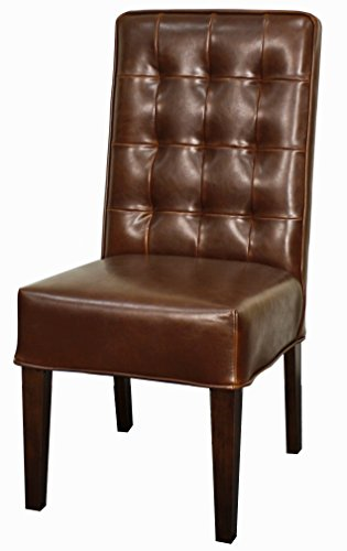 New Pacific Direct 198340-65 Texas Bicast Leather Chair,Set of 2 Furniture, - Bicast Chair Leather