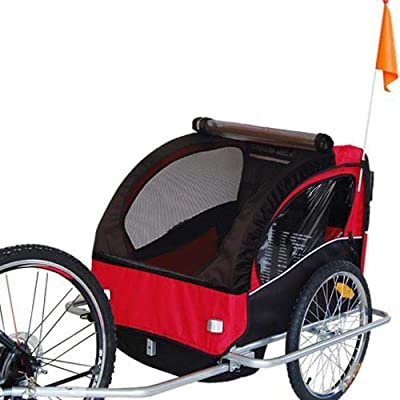 Remolque de bici para niños con kit de footing, color: rojo 502-01 ...