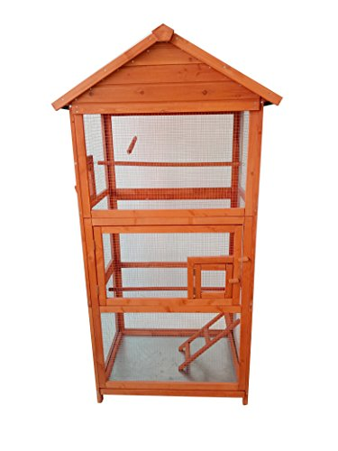 Aviary Bird Cage Lovupet 70'' Outdoor Wood Vertical Play House 0011 by MCombo