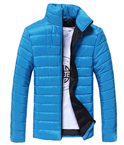 Del Colore Puro Uomini Piumino Del Di Calda Di Di Zip Degli manicotto Basamento Curve Blu Energia Collare Lungo qEACCSw