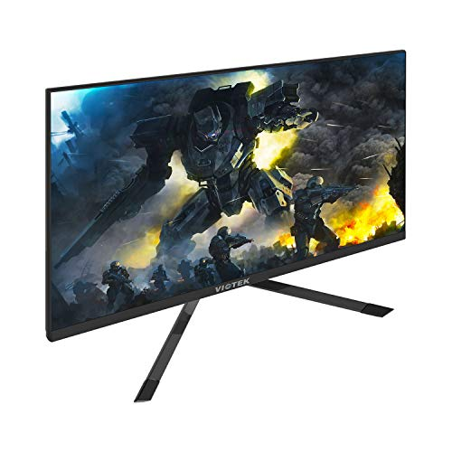 VIOTEK GFT27DB 27-Inch WQHD Gaming Monitor with Speakers, 1440p 144Hz 1ms, FreeSync & Works w/G-SYNC, TN Panel 115% sRGB, DP HDMIx3 VESA (Best G Sync Monitor 2019)