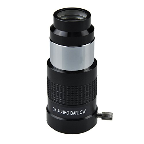 1.25 Inch 3x Achromatic Barlow Lens for Newtonian Telescopes