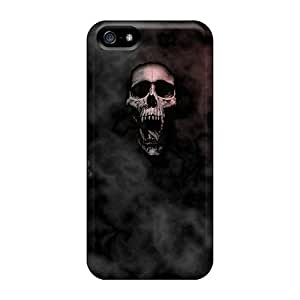 For Iphone 5/5s Tpu Phone Case Cover(skulls In Color)
