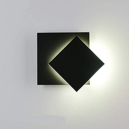 Lámpara de pared Sexy - Nordic Creativa LED Escalera Luces Pasillo Dormitorio Ajustable Iluminación de la decoración de la Pared (Color : Negro): Amazon.es: Hogar
