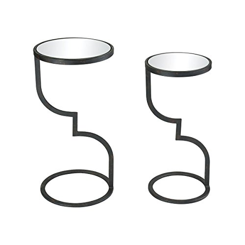"""Price comparison product image Sterling Industries 3200-141 / S2 Mambo - 26"""" Accent Table (Set of 2),  Rust / Clear Mirror Finish"""