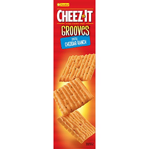PACK OF 13 - Cheez-It Grooves Zesty Cheddar Ranch Crispy Cracker Chips, 9 oz by Cheez-It (Image #3)