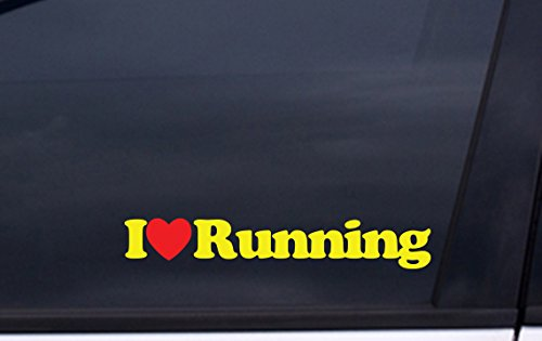 I LOVE RUNNING vinyl decal 1.5