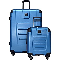"Kenneth Cole Reaction Get Away 2-Piece Expandable Upright Luggage Spinner Set: 29"" and 16"" Carry On Under Seat Bag (Ocean Blue)"