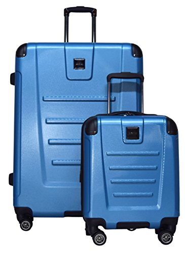 Kenneth Cole Reaction Get Away 2-Piece Expandable Upright Luggage Spinner Set: 29'' and 16'' Carry On Under Seat Bag (Ocean Blue) by Kenneth Cole REACTION