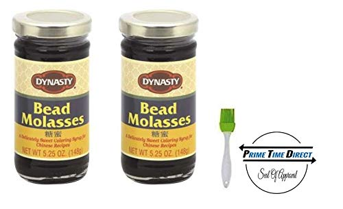 Dynasty Bead Molasses 5.2 oz (Pack of 2) with Silicone Basting Brush in a Prime Time Direct Sealed Bag ()