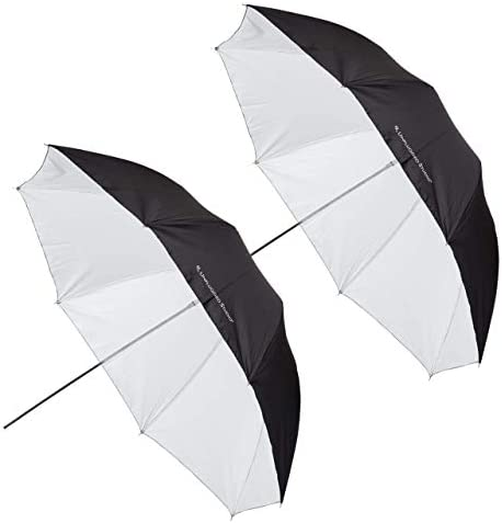 UNPLUGGED STUDIO 2pack 43inch White Umbrella Fiberglass Rib UN-047