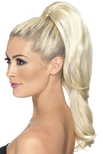Smiffy's Women's High Ponytail Hair Extension, Blonde, Long, 42305