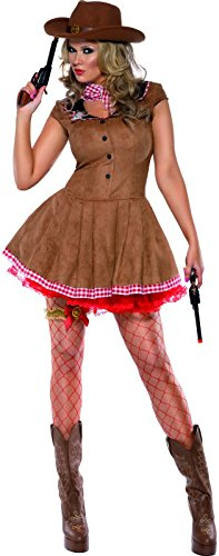 Smiffy's Women's Fever Wild West Costume, Dress, Western, Fever, Size 14-16, 33794
