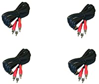 C&E 4 Pack, RCA Stereo Audio Extension Cable, 2 RCA Male to 2 RCA Male, 12 Feet, CNE501845