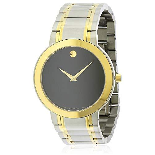 - Movado Stiri Black Dial Two-Tone Mens Watch 606950