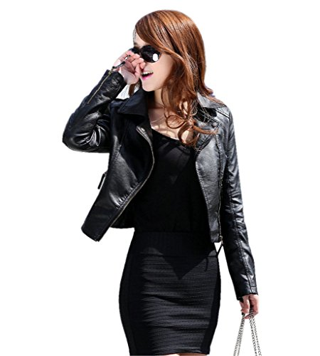 Slim Leather Motorcycle Jacket - 1