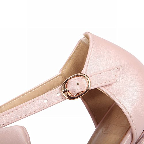 Mee Shoes Damen süß Schleife Schnalle Pumps Pink