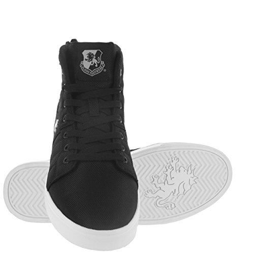 Vlado Footwear Heren Midas Mid Cordura Zwart / Wit Mid Top Sneaker Zwart