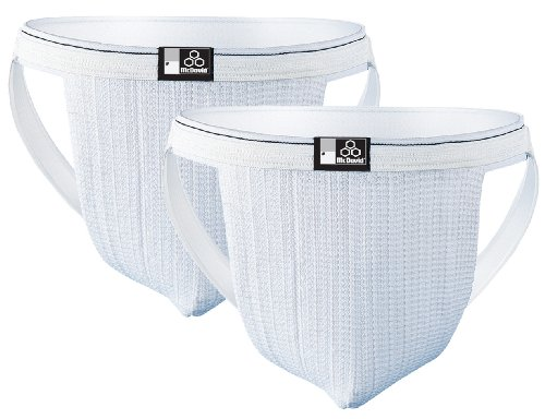 McDavid Two Pack Swim Supporter, White, ()
