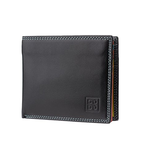 Colorful leather wallet Tullio purse Black man's multicolour coin Small DUDU Collection billfold ~ 5Fq8xnwtB