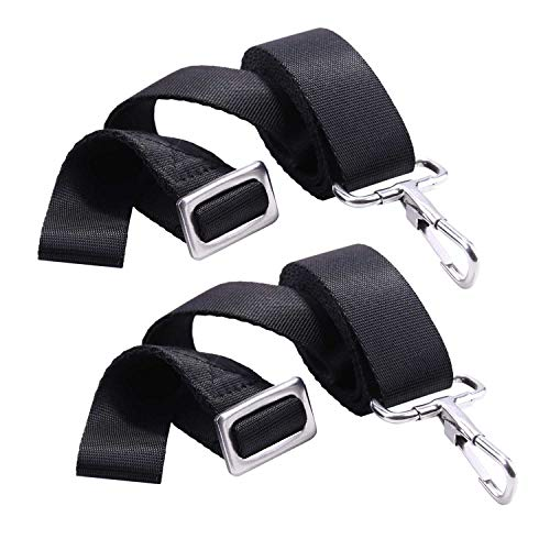 XJunion 2 PCS Adjustable Bimini Boat Top Strap Loops Single Snap Hook - Stainless Steel Boat Awning Hardware