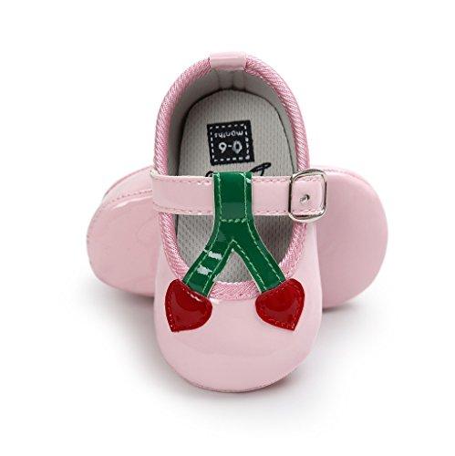 Auxma Zapatos de bebé, Bebé niña Cómoda AntiSlip Princesa Toddler Zapatos Rosado