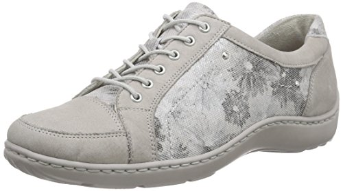 WaldläuferHenni - Zapatos Derby Mujer Gris - Grau (Denver Monet 2xDenver stein)