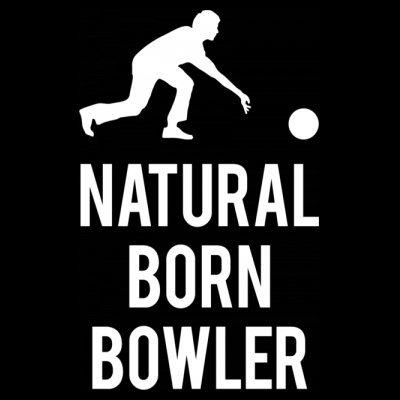 Sudadera con capucha de mujer Natural Born Bowler by Shirtcity Negro
